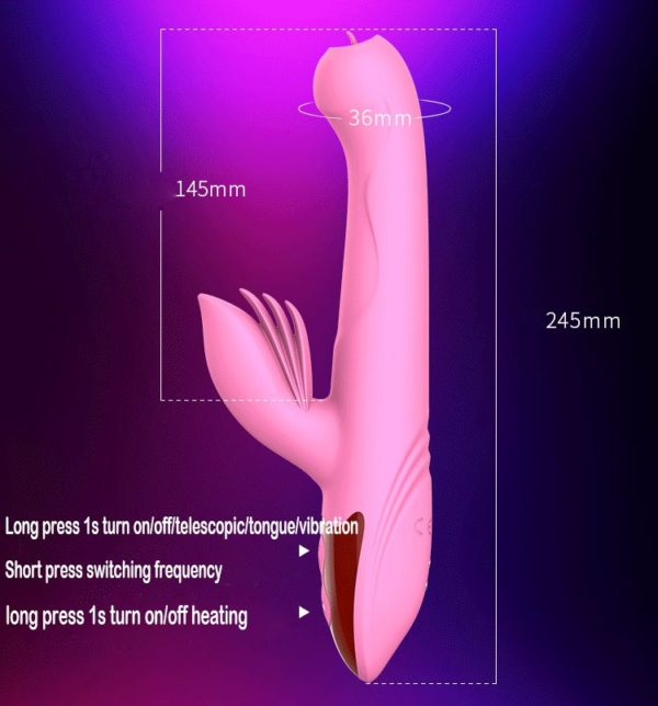 Heartley Marvels Throbbing Powerful Flickering Tongue Clit Vibrator