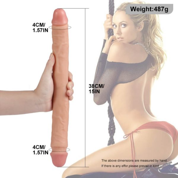 15 Inch Silicone Waterproof Flexible Double Head Dildo