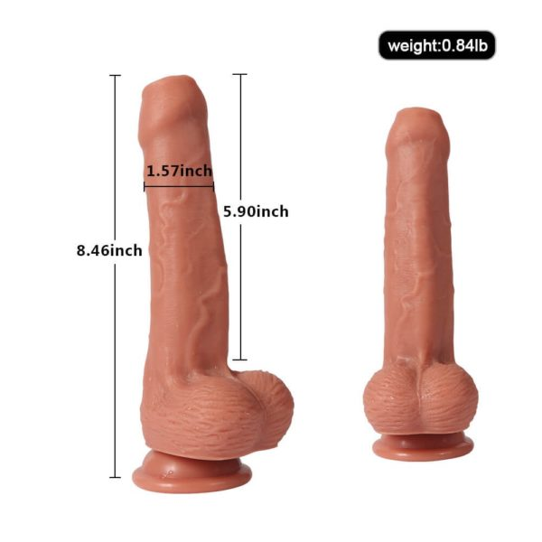 Heartley Uncut Dual Layered Silicone Realistic Dildo 8 inch