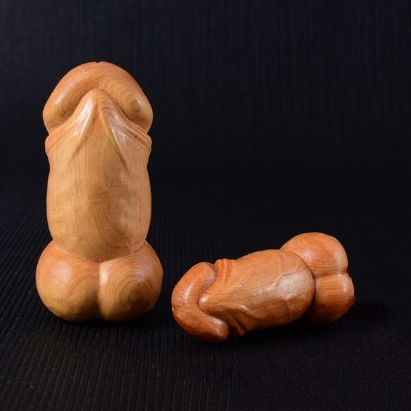 Handmade Wood Penis - The Root of Life